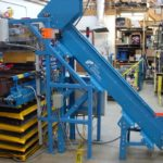 blue conveyor system