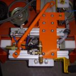 close up of orange vacuum lift assist