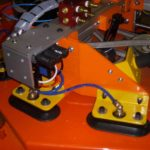 close up of orange vacuum lift assist
