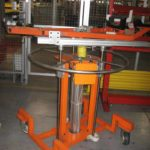 orange rotating conveyor